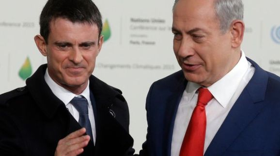 french-prime-minister-valls-welcomes-israel-s-prime-minister-benjamin-netanyahu-as-he-arrives-for-the-opening-day-of-the-world-climate-change-conference-2015-cop21-at-le-bourget_5601793